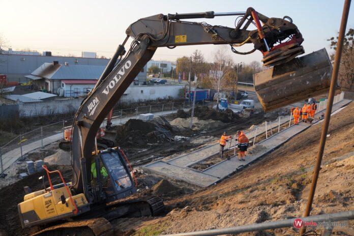 Przystanek PKP Wieluń budowa